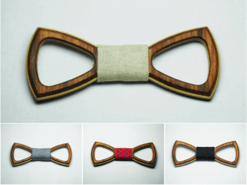 ROSEWOOD EMPTY BOW TIES