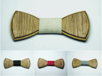 WALNUT FULL BOW TIES