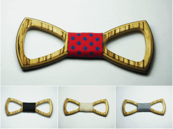 ZEBRANO EMPTY BOW TIES