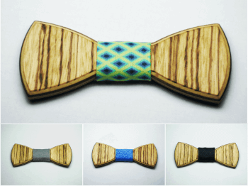 ZEBRANO FULL BOW TIES